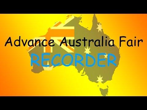 Advance Australia Fair-Recorder