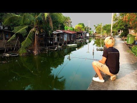 【突撃】スラム街の用水路で釣りをしてみた。