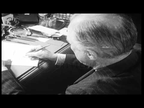 Germany bombs London during Blitz, and United States sends Lend-Lease war materie...HD Stock Footage