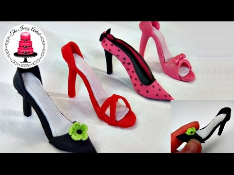 Mini fondant high heel shoe how to with the icing artist youtube mini fondant high heel shoe how to with the icing artist maxwellsz