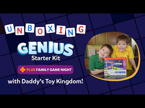 Daddy's Toy Kingdom Unboxes and Reviews Genius Starter Kit + Family Game Night