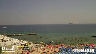 Odessa1.com - Черное море в прямом эфире, пляж «Аркадия», Одесса, Black Sea, Odessa. Live.