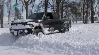 Lifted Dodge Ram 35s Meets Friendly Police Officer