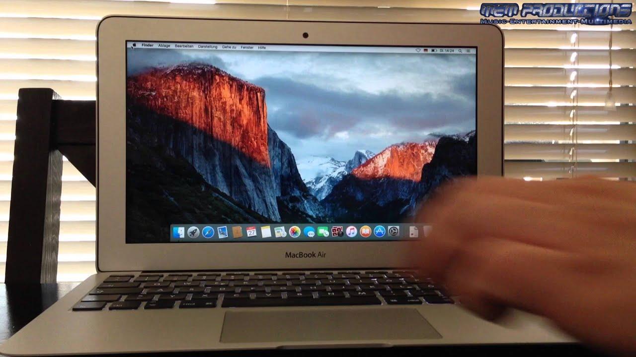 Test: Apple MacBook Air 2014 (Start & Shutdown) - YouTube
