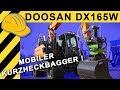 Doosan Bagger DX165W   Neuer mobiler Kurzheckbagger   Bauforum24 Kurzvorstellung   TiefbauLive