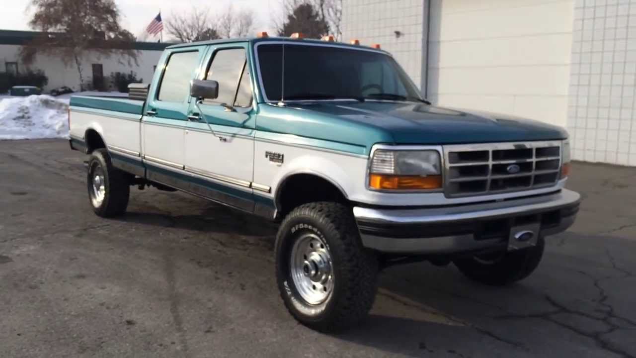 www diesel deals com 1995 ford f350 crew cab 4x4 longbed auto 7 3 powerstroke turbo diesel. Black Bedroom Furniture Sets. Home Design Ideas