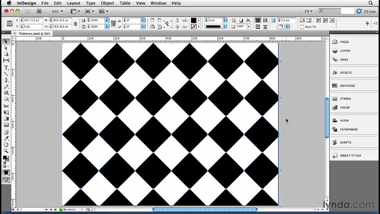 Indesign Tutorial How To Create Repeating Patterns Lynda