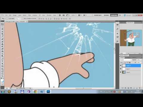 Фотошоп. Разбитое стекло.