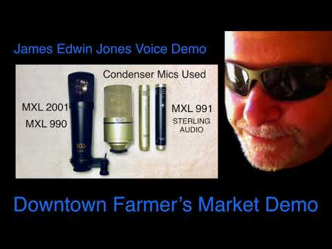 VOICE-OVER DEMO 2 - DOWNTOWN FARMER'S MARKET - James Edwin Jones