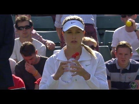 2014 Day 2 Highlights, Eugenie Bouchard vs Daniela Hantuchova, First Round