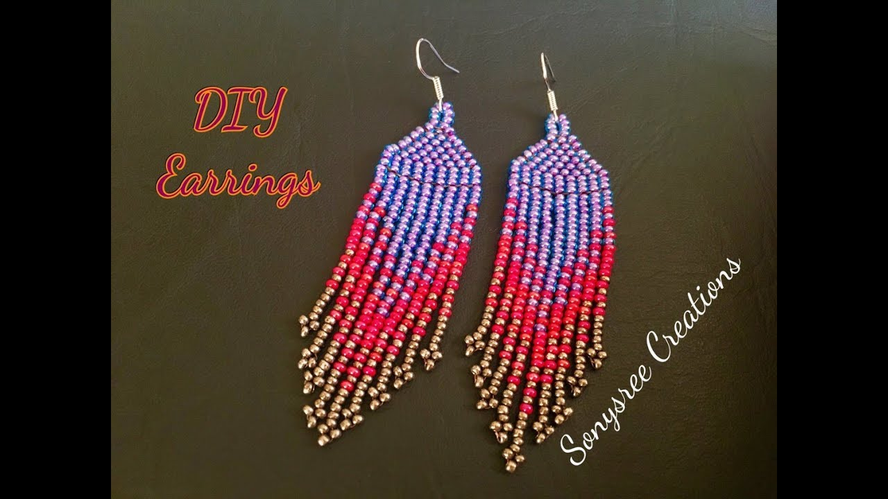 a486233e604f4 Native American Style Earrings Very clear Tutorial for Beginners