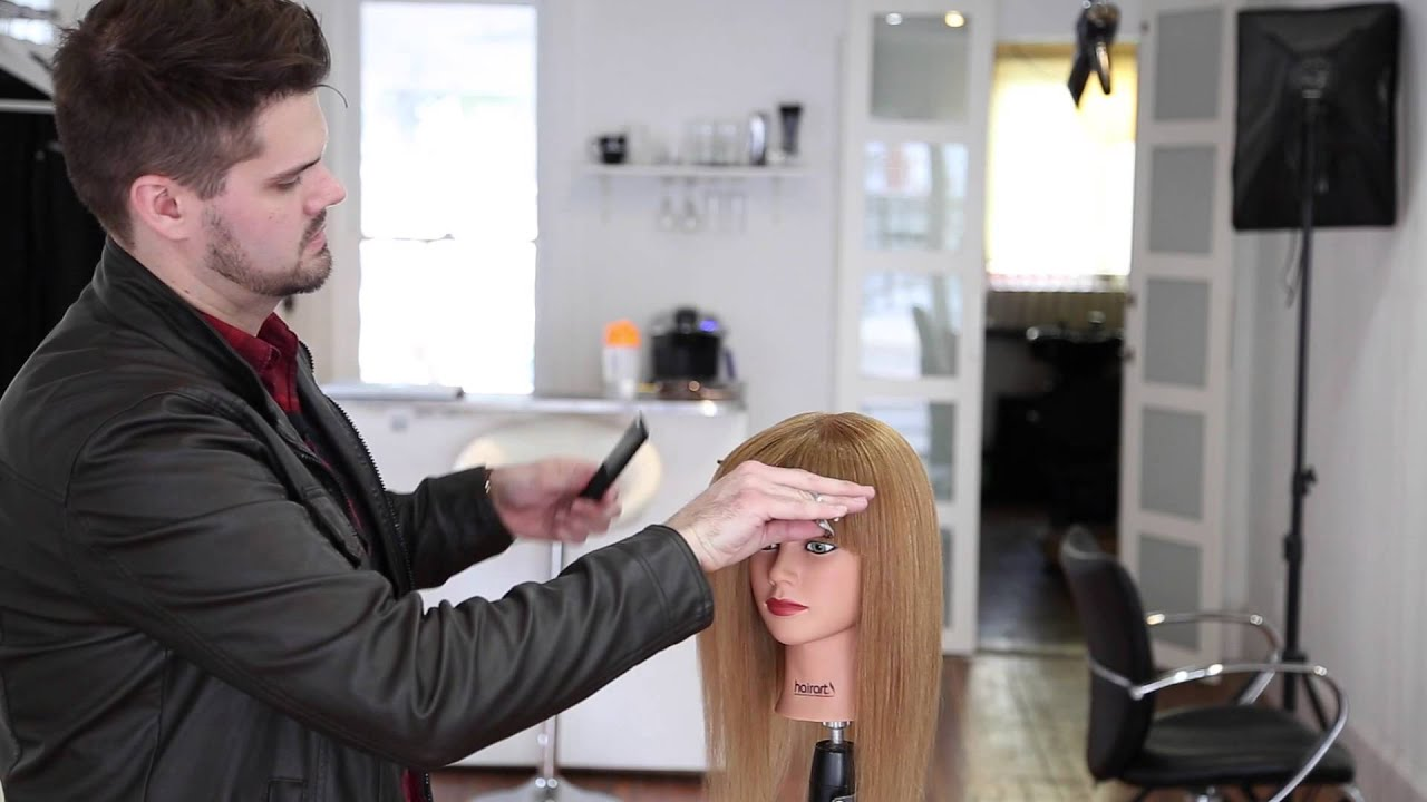 STEP 13 - 14 Steps to becoming a better haircutter - How to cut a STRAIGHT BANG