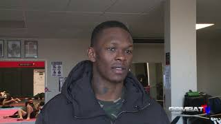 ISRAEL ADESANYA relaxed and back at the gym, after quarantine, relives Costa fight for Combat tv