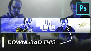GTA 5 Gaming Youtube Banner Template | FREE GFX Photoshop (2020)