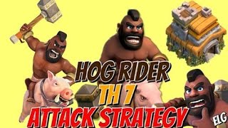 Clash Of Clans Gameplay | 3 Star Using Hog Riders Attack Strategy For Town Hall 7 | Comedy