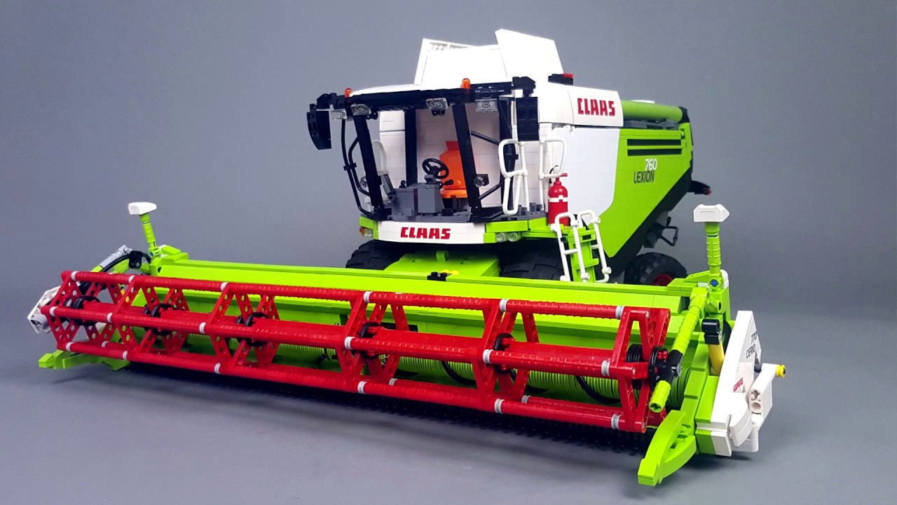 Claas lexion 760 in lego version by eric trax youtube - Moissonneuse cars ...