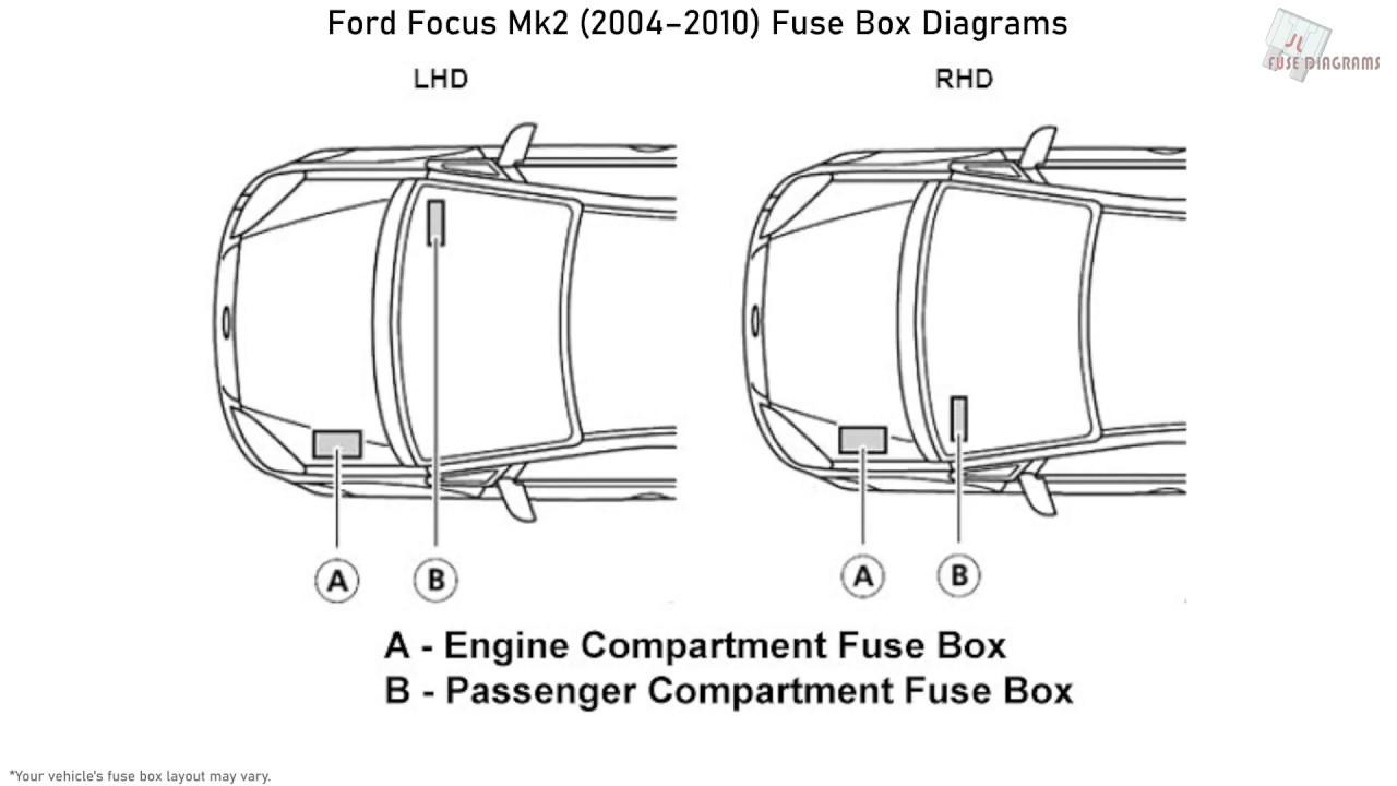 diagram 2005 ford focus fuse diagram ford focus mk2  2004 2010  fuse box diagrams youtube  ford focus mk2  2004 2010  fuse box