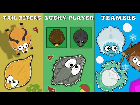 TYPES OF PLAYERS IN MOPE.IO // TAILBITERS // LUCKY PLAYER // TOXIC PLAYER // TEAMERS