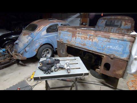 1958 Volkswagen Bus : Welding on the 58 Vw Single Cab