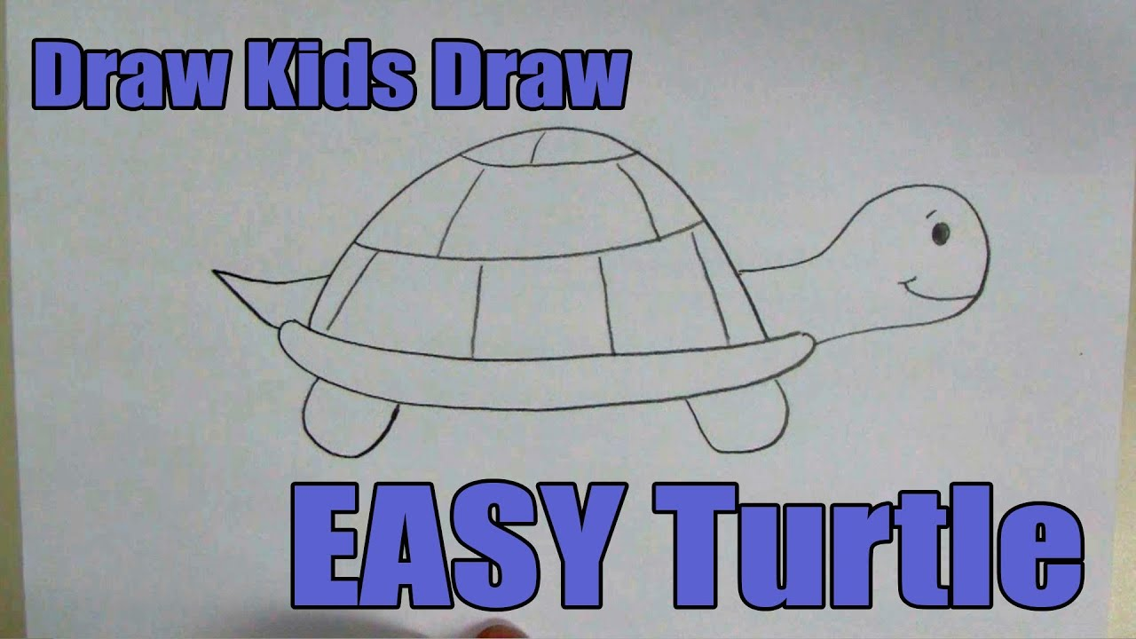 how to draw easy turtle [ 1280 x 720 Pixel ]