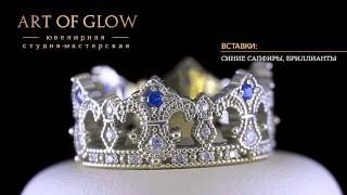 Обручальные кольца из белого и желтого золота с сапфирами бриллиантами и рубинами(, 2014-07-16T10:35:15.000Z)