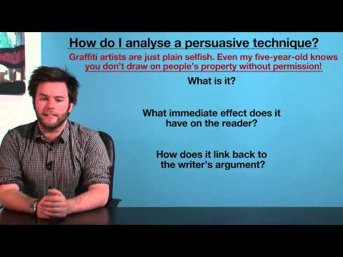 VCE English - How to analyse persuasive techniques (Language Analysis)
