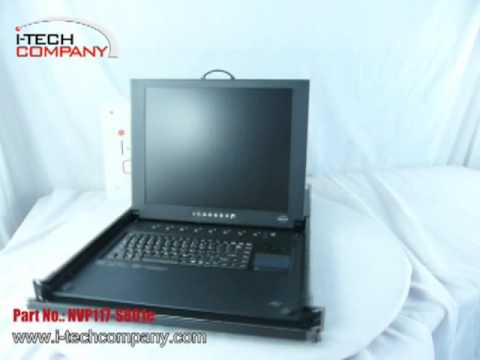 "LCD Keyboard Drawer: 1U 17"" LCD Monitor (Combo Free PS/2 or USB) KVM Keyboard drawer"