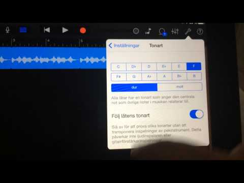 How to change the Key (Pitch) on a specific loop in GarageBand for iOS (iPad)