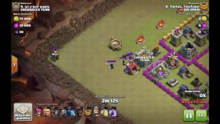 Ataque con montapuercos| clash of clans|TH7