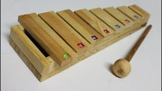 How to make Xylophone - DIY Music Instruments