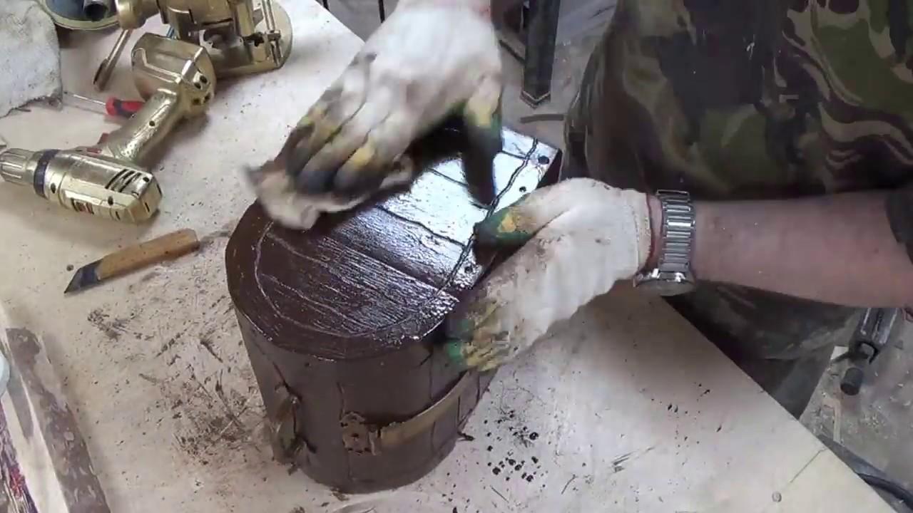 Полезная самоделка своими руками.Сундук из фанеры а как смотрится)))