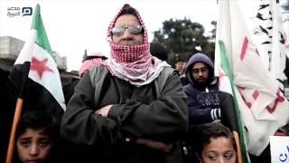 مصر العربية   مظاهرة في جرابلس السورية تندد بتنظيم