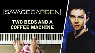 two beds and a coffee machine
