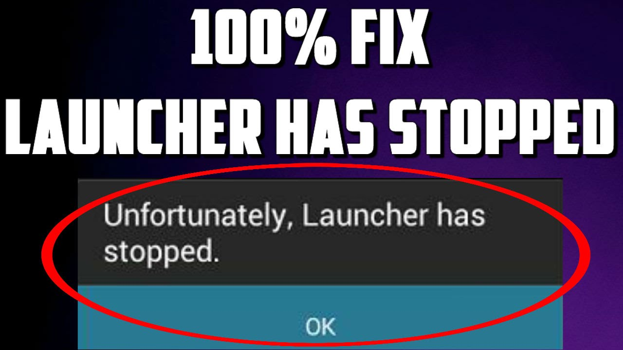 How To Fix Unfortunately Launcher Has Stopped Working - YouTube