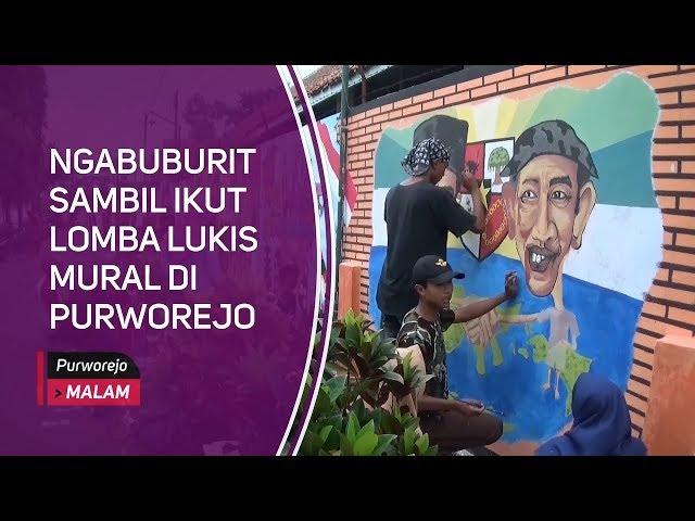 Ngabuburit Sambil Ikut Lomba Lukis Mural di Purworejo