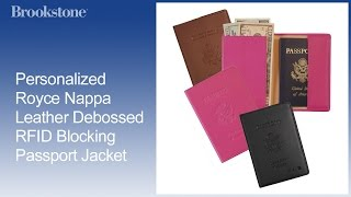 Personalized Royce Nappa Leather Debossed Rfid Blocking Passport Jacket