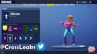 FORTNITE ''AEROBIC ASSASSIN'' SKIN SHOWCASED WITH NEW LEAKED DANCES!