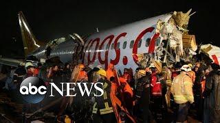 Passenger jet slides off runway, breaks into pieces in Turkey