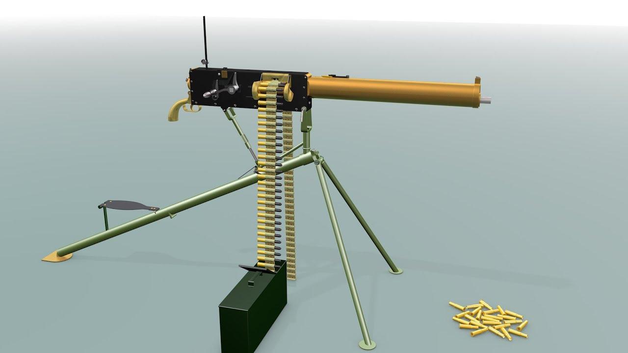 how a machine gun works