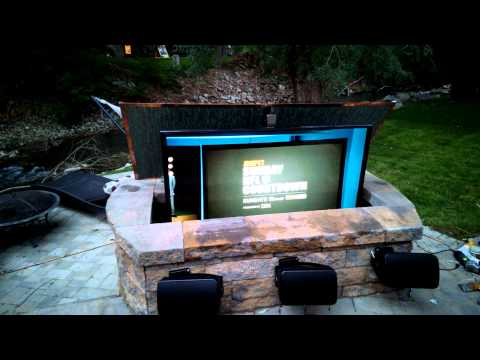 Outdoor entertainment center