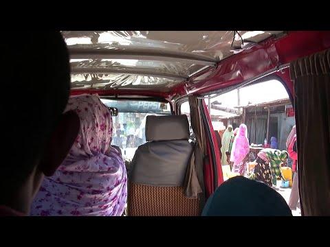Ethiopia: Alemaya (eastern town) on the mini bus, Jan 2012