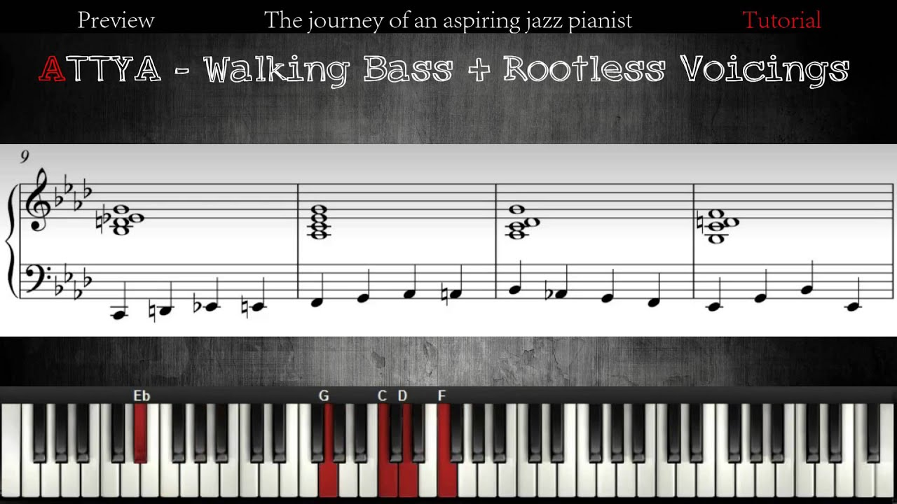 all the things you are - walking bass + chords │jazz piano lessons #6 -  youtube  youtube