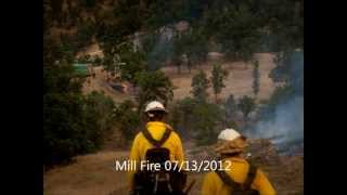 Mill Fire in Mendocino National Forest Colusa County CA