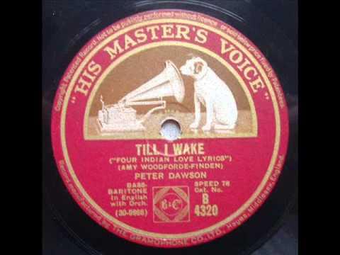 PETER DAWSON -  TILL I WAKE - HMV B4320 DoGramofonuPL