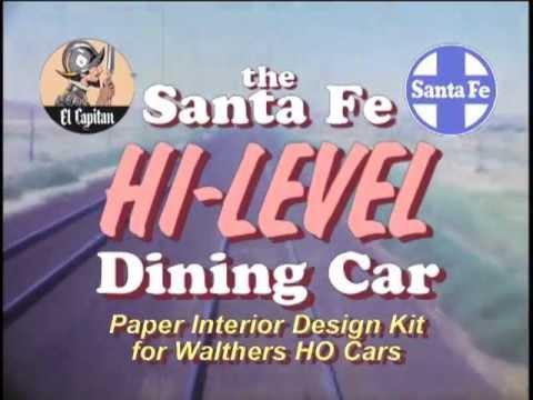 Trakworks Santa Fe Hi Level Diner Interior Kit For Walthers Cars