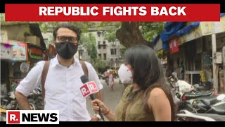 Republic TV's Executive Editor Niranjan Arrives At NM Joshi Marg Police Station For Questioning