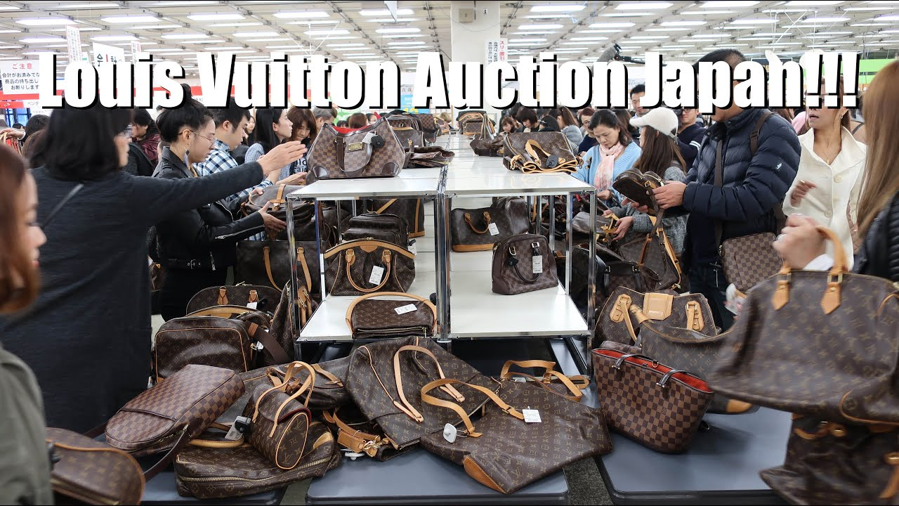 Louis Vuitton Auction In Tokyo Japan Youtube