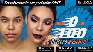 TRANSFORMACION DE MAQUILLAJE CON SAMY/ 0-100 #MaquillajeColombiano #SamyCosmetics