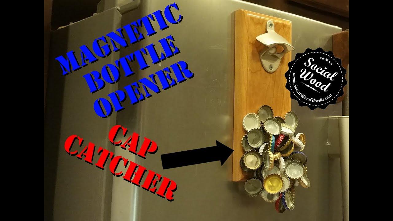 Bottle Opener And Magnetic Cap Catcher