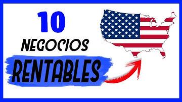 Los 10 Negocios Más Rentables en ESTADOS UNIDOS